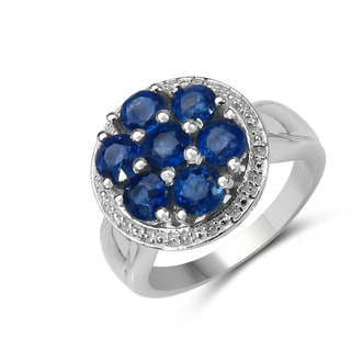 Malaika 2.60 Carat Genuine Kaynite .925 Sterling Silver Ring