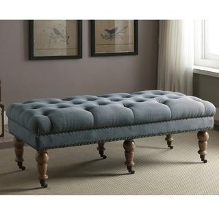 Linon Larissa 50-Inch Bench - Blue
