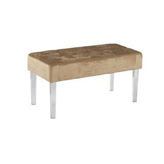 Linon Liza Crystal Bench - Beige