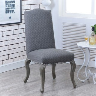 Linon Rachel Chairs - Grey (Set of 2)