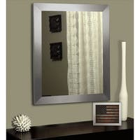 American Made Rayne Modern Stainless Silver Wall/ Vanity Mirror