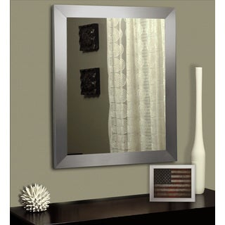 American Made Rayne Modern Stainless Silver Wall/ Vanity Mirror (More options available)