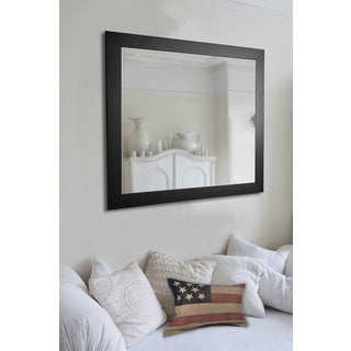 American Made Rayne Black Satin Wide Wall Mirror