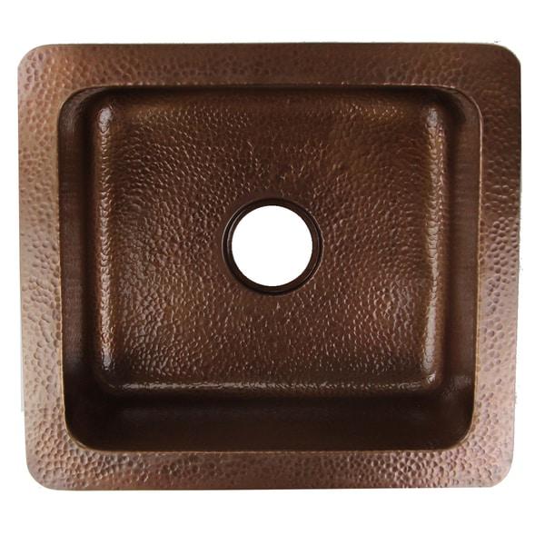 Shop 21 inch Copper Undermount Hand Hammered Kitchen Sink - 21.75 x ...