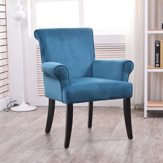 Linon Vera Chair - Dark Blue