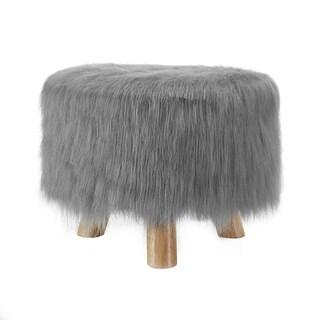 Linon Katie Foot Stool - Grey