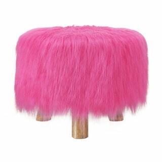 Linon Katie Foot Stool - Pink