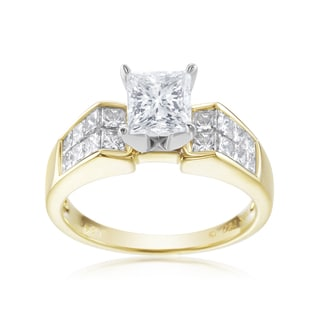 SummerRose, 18k Two Tone 2 1/10ct TDW Diamond Ring