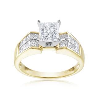 SummerRose, 18k Two Tone 2 1/10ct TDW Diamond Ring