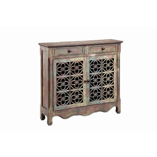 Claudius Two Drawer, Two Door Accent Cabinet