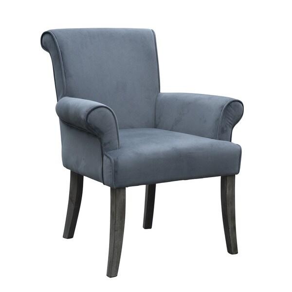 Tribecca Home Tufted Button Back Peat Microfiber Side: Shop Linon Vera Chair