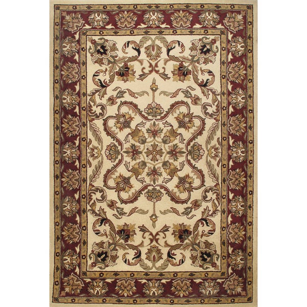 Shop ABC Accent Beautiful Traditional Beige Wool Area Rug