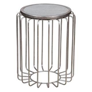 Valerio Antiqued Silver Accent Table