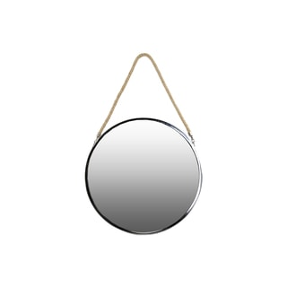 Stainless Steel Round Mirror with Rope Hanger LG Polished Chrome Finish Silver