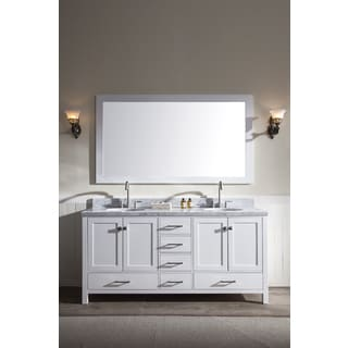 ARIEL Cambridge 73-inch Double Sink White Vanity Set