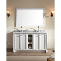 ARIEL Westwood 61-inch Double-sink White Vanity Set