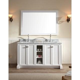 Type: Wall Mirror · ARIEL Westwood 61 Inch Double Sink White Vanity Set