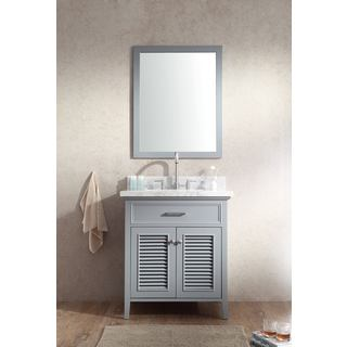 ARIEL Kensington 31-inch Single-sink Grey Vanity Set