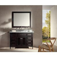 ARIEL Kensington 49-inch Single-sink Espresso Vanity Set