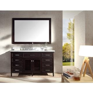 ARIEL Kensington 61-inch Single-sink Espresso Vanity Set