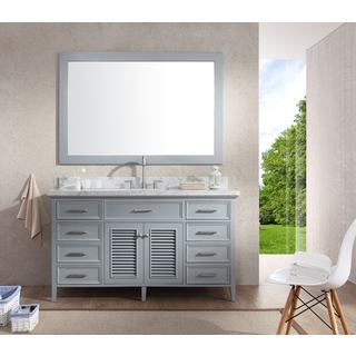 Kensington 61-inch Single Sink Vanity Set in Grey