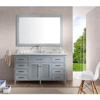 Kensington 61-inch Single Sink Vanity Set in Grey
