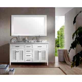 Kensington 61-inch Double Sink Vanity Set in White