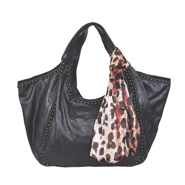 Shop David Jones Studded Hobo Handbag - Free Shipping Today ... dc064711f1