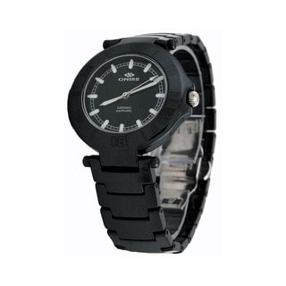 Oniss Black Women's Swiss Ceramic Watch