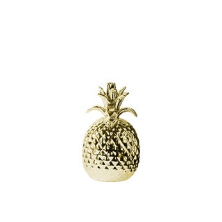 Urban Trends Pineapple Polished Gold Porcelain Small Figurine