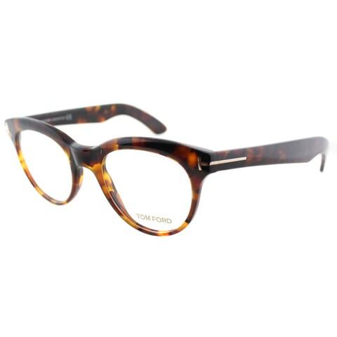 Tom Ford Rx - TF5378-052-49-FR Havana 49 mm Oval Eyeglass Frames