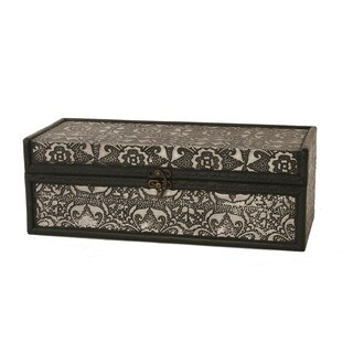 Wald Imports Metal/Wood Wine Box