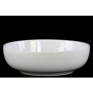 Urban Trends Gloss White Ceramic Large Bellied Bowl