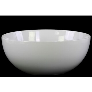 Urban Trends Gloss White Ceramic Small Bellied Bowl