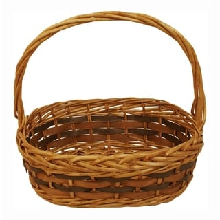 Wald Imports Tuscana Wood Chip Handled Basket - Set of 2
