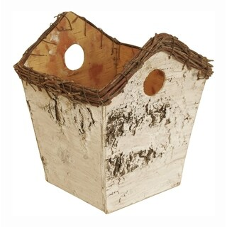 Wald Imports Birch Birdhouse Planter - Set of 6, 5 in