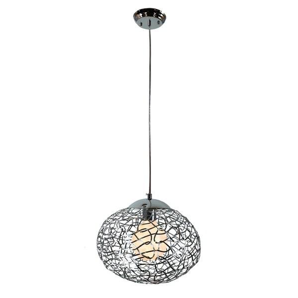 Shop aaliyah 1 light chrome 12 inch pendant lamp silver free aaliyah 1 light chrome 12 inch pendant lamp silver aloadofball Choice Image