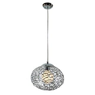 Aaliyah 1-light Chrome 12-inch Glass Pendant Lamp