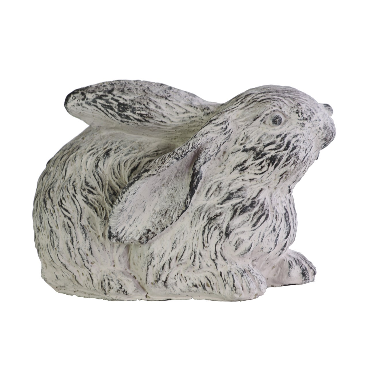 Urban Trend Washed Gray Cement Crouching Rabbit Figurine ...