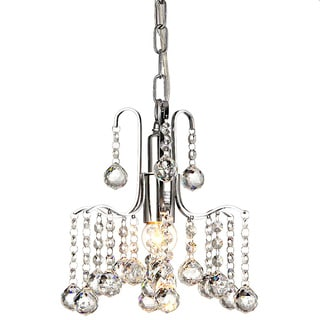 Addie 1-light Chrome 8-inch Crystal Chandelier