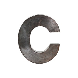 Glavanized Bronze Metal Alphabet C Wall Decor Letter