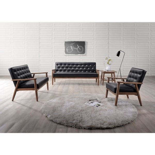 Living Room Ideas 2015 Top 5 Mid Century Modern Sofa: Shop Baxton Studio Sorrento Mid-century Retro Modern Black