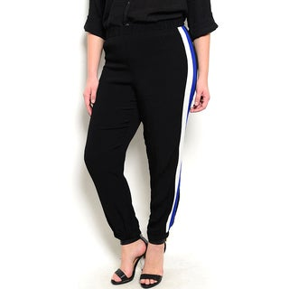 Shop the Trends Women's Plus Size Tie Closure Trousers With Hidden Pockets
