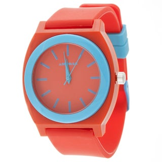 Airwalk Analog Red Case with Red Silicone Strap Watch