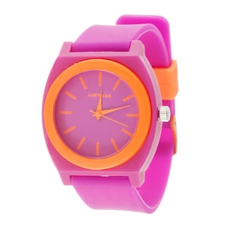 Airwalk Analog Pink Case with Pink Silicone Strap Watch