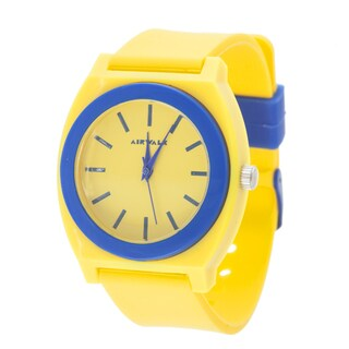Airwalk Analog Yellow Case with Yellow Silicone Strap Watch
