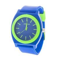 Airwalk Analog Blue Case with Blue Silicone Strap Watch