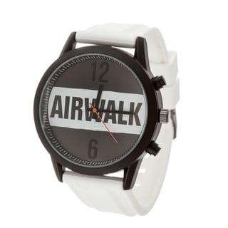 Airwalk Analog White Logo Dial with White Silicone Strap Watch