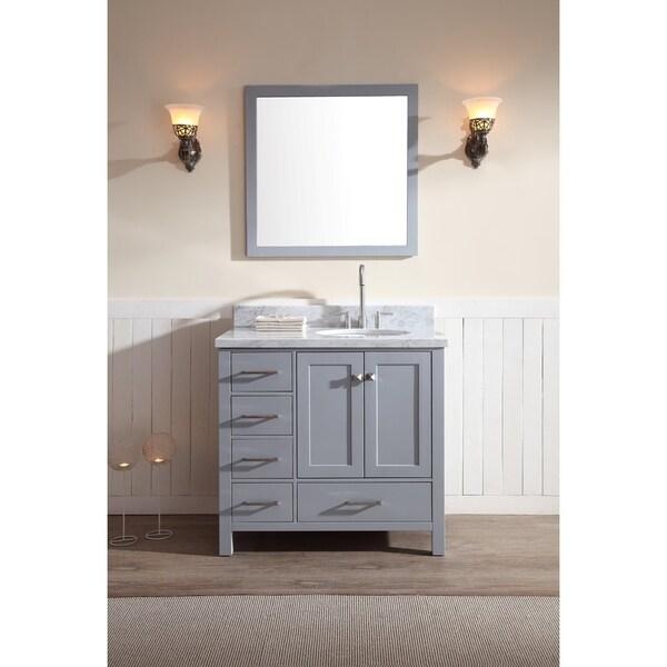 Shop Ariel Cambridge 37 Inch Single Right Offset Sink Grey