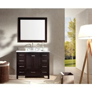 Cambridge 43-inch Single Sink Vanity Set in Espresso